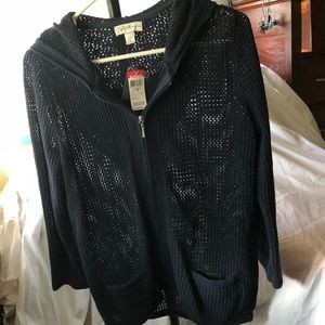 New with tags jaclyn smith sweater jacket long top